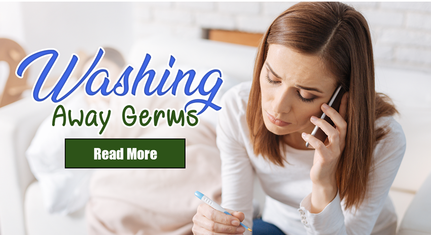 Spot help-faq page washing away germs