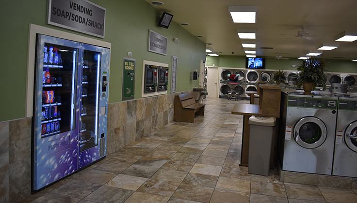 Spot Laundromat Martinsburg Inside vending and machines