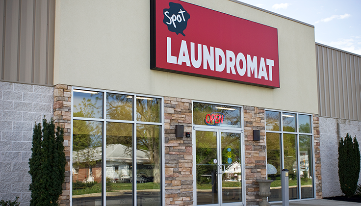 Spot Laundromat Near Me Salem Ave. Exterior View