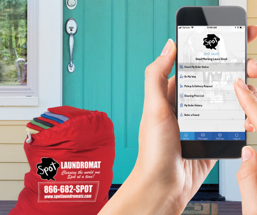 laundry app in use