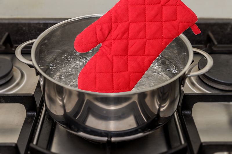 Grease cleaning tip for potholder