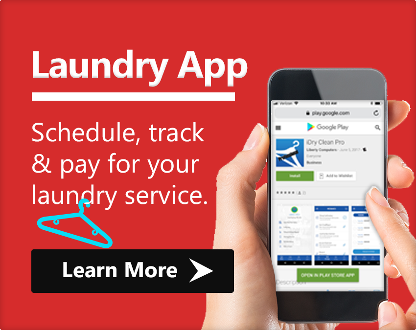 Laundry App, Schedule, track & pay for your laundry service.