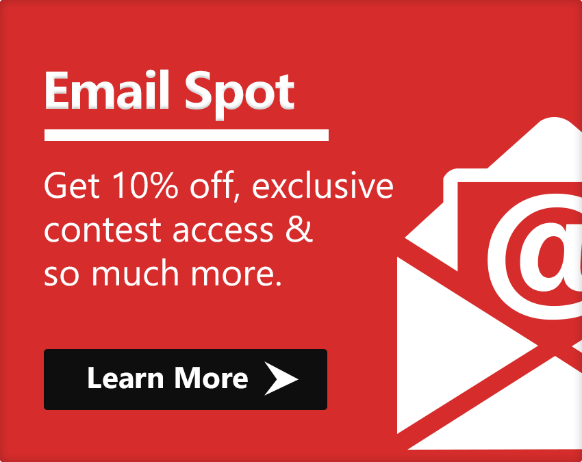 Email spot Get 10% off, exclusive contest access & so much more.