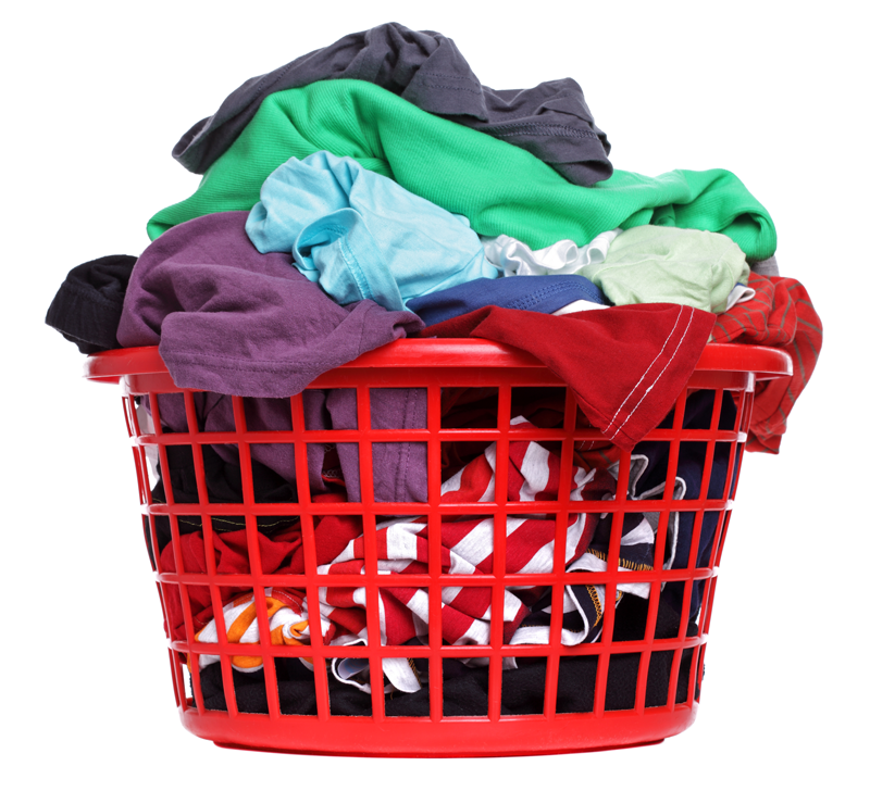 toss your dirty laundry into a bag or basket and drop off at Spot Laundromats.