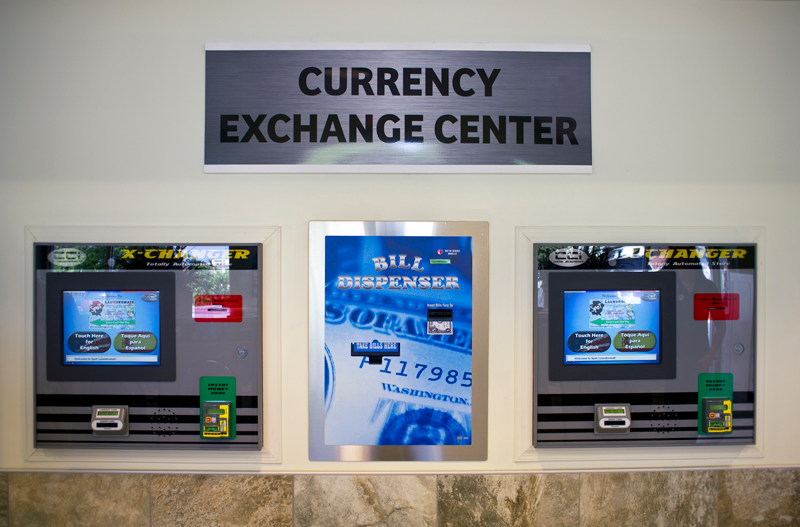 Spot Laundromat's Currency Exchange Center