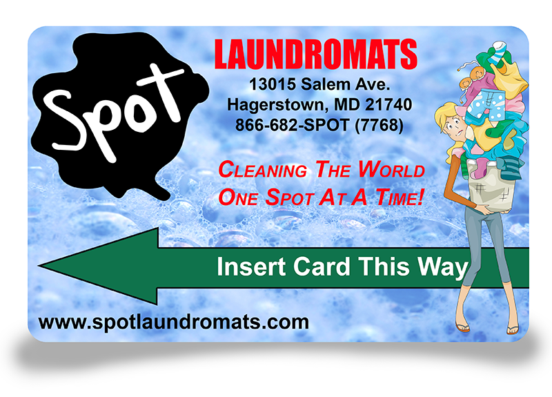 laundry card, spot laundromats, spot