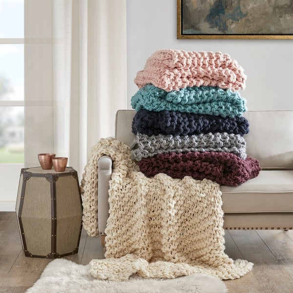 knit cozy blankets and throws