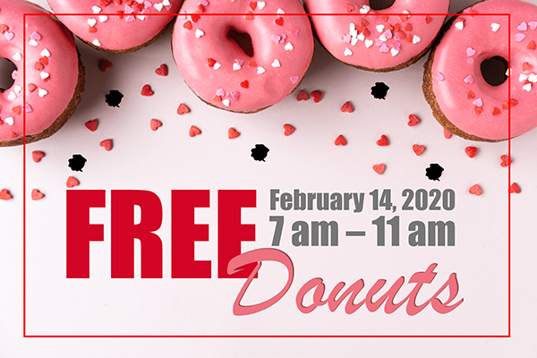 Free Donuts on Valentine's Day at Spot Laundromats in Hagerstown, Frederick and Martinsburg.