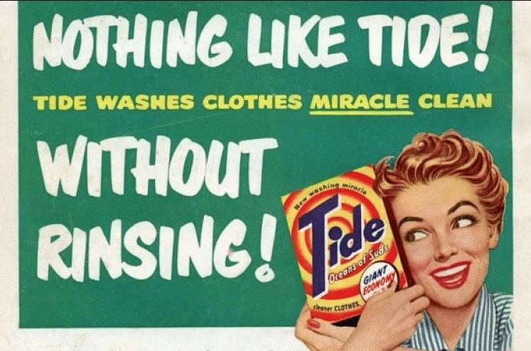 Tide Laundry Detergent Ad Vintage