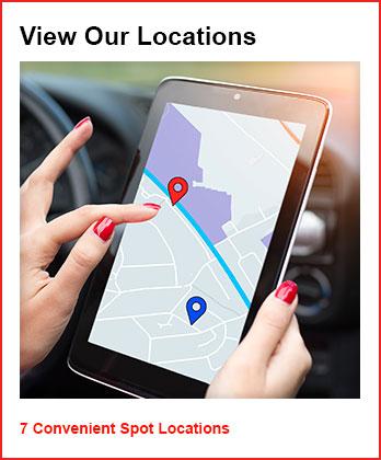 View our 7 convenient spot locations