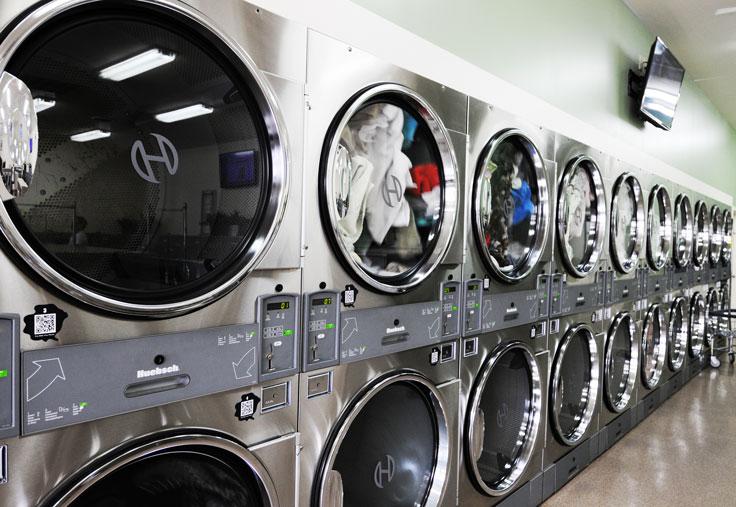 Spot Laundromat On Virginia Avenue In Hagerstown, MD. Dryers