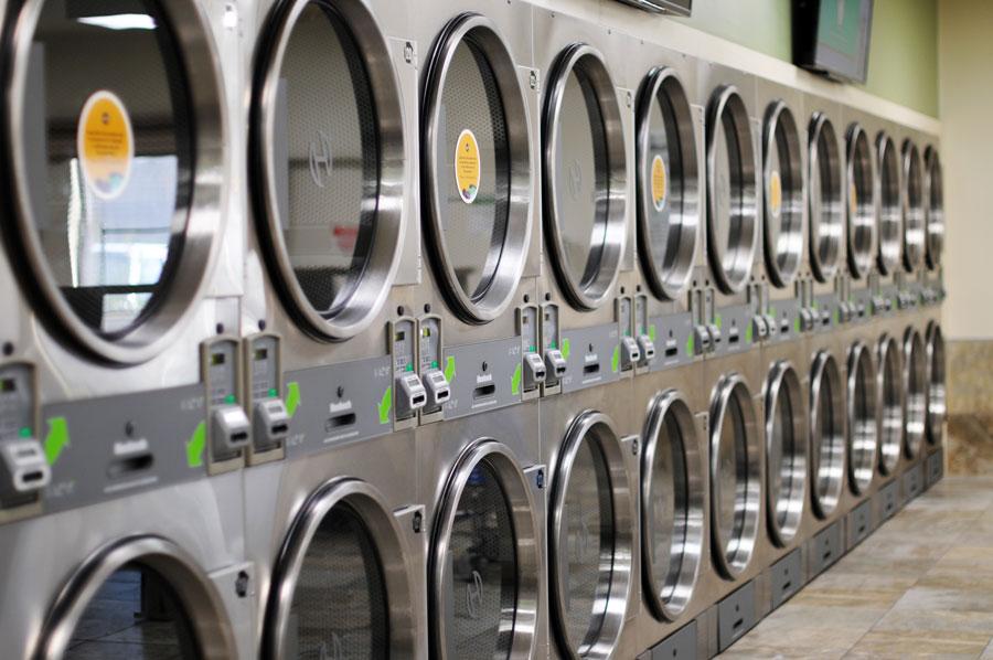 Spot laundromat Martinsburg row of dryers