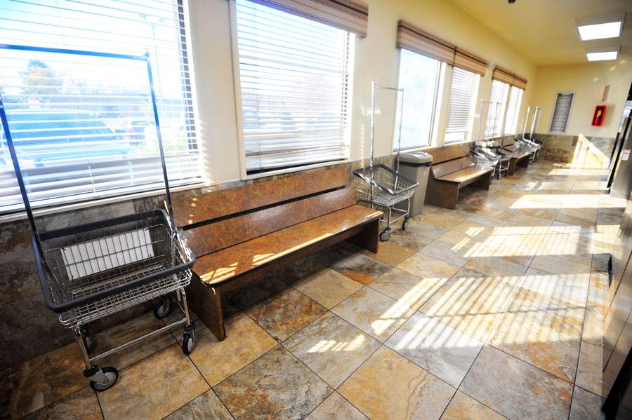 Martinsburg Spot laundromat interior photo of seating area