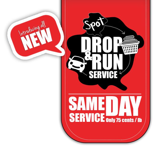 Spot, Drop & Run Same Day Laundry Service