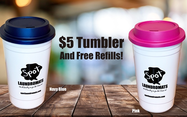 $5.00 tumbler and free refills!
