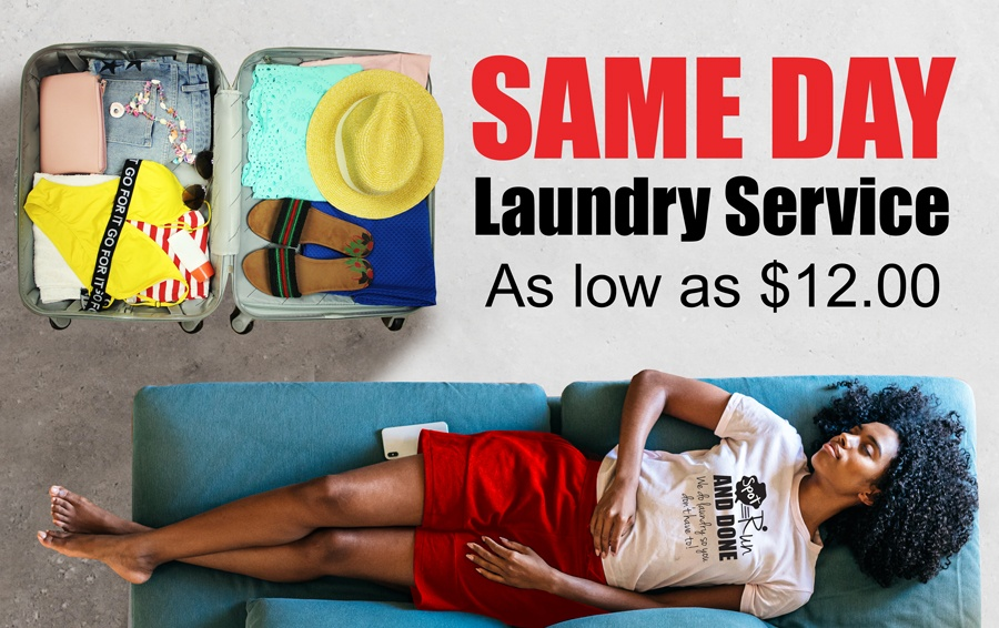 Same day laundry service as low as $12.00