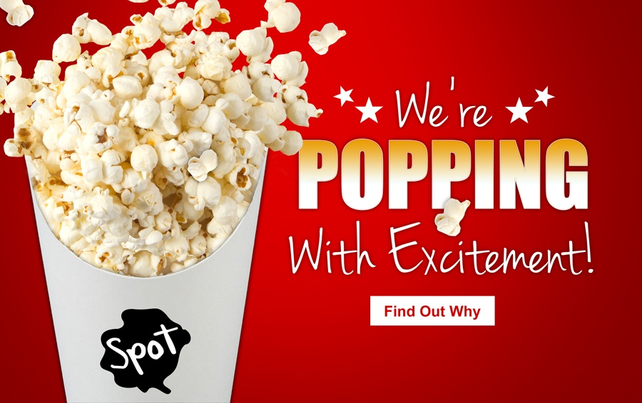 Free popcorn during the month of July