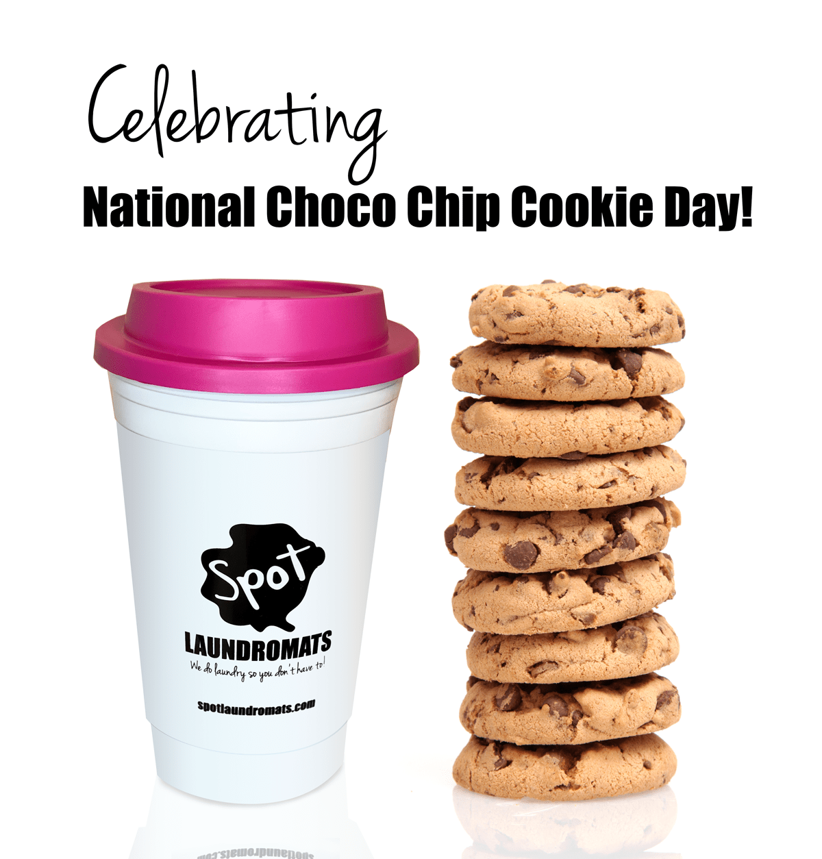 National Chocolate Chip Cookie Day at Spot Laundromats