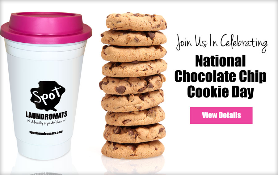 Celebrate National Chocolate Chip Cookie Dat at Spot Laundromat on August 9, 2021