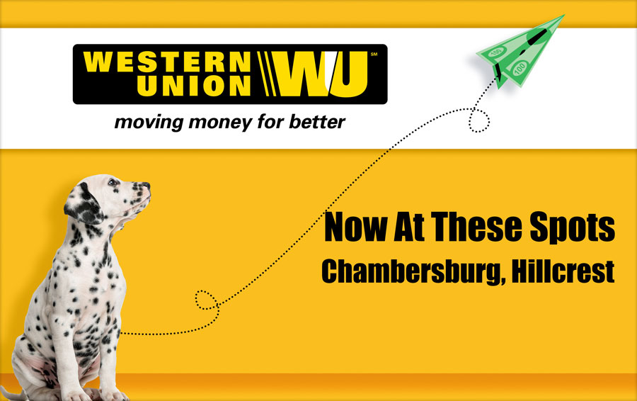 Spot Laundromats now offers Western Union Transactions at its Chambersburg and Hillcrest locations.
