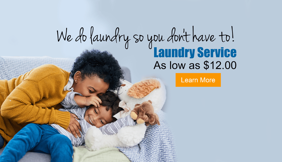 we do laundry so. you don't have to!
